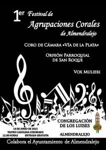 1er FESTIVAL DE AGRUPACIONES CORALES (Coros) de ALMENDRALEJO