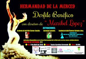 Desfile de trajes de flamenca de la Hdad. de la Merced.
