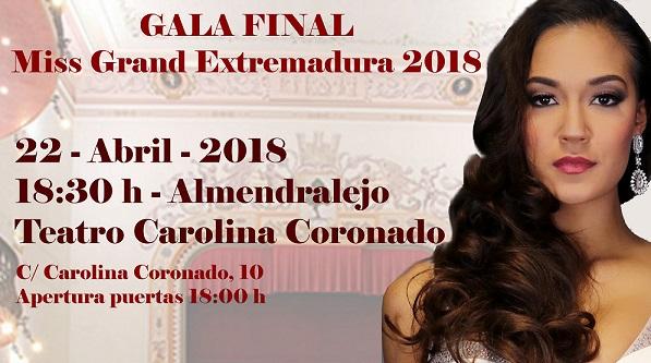 "GALA FINAL ""MISS GRAND EXTREMADURA 2018"""
